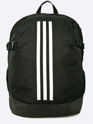 Ghiozdan negru cu dungi albe Adidas